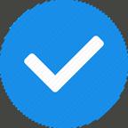 Checkmark in blue box